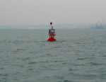 A Bouy on our left going into Brest France