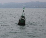 A Bouy on our right going into Brest France