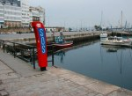 The SOS / Help stations were all around the La Coruna marina.