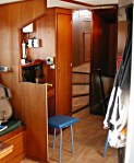 Comms Corner and stairs to the wheelhouse