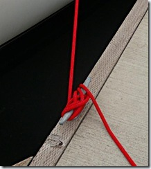 Quickly tying a cleat - use several Figure 8 Hitches