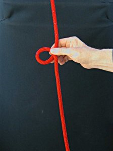 Step-2 - How to tie a Bowline with your left hand