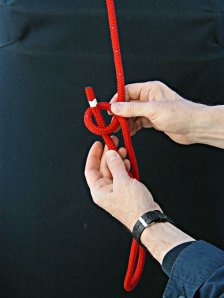 Step-3 - How to tie a Bowline with your left hand