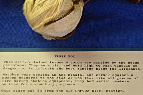 Flare Pot Text - US Coast Guard Museum - Seattle