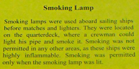 Smoking Lamp - US Coast Guard Museum - Seattle