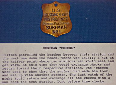 Surfman Check - US Coast Guard Museum - Seattle