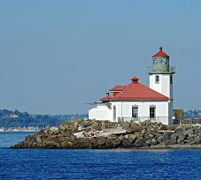 Alki Lighthouse - West Seattle - From the Water