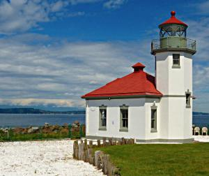 Alki Point Lighthouse in West Seattle