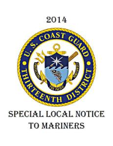 District 13 Special Notice To Mariners
