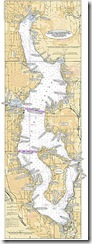 Locations in Lake Washington, Seattle, Black & White