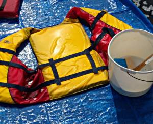 cleaning life-jackets - washing lifejackets