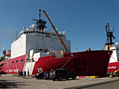 USCGC-Healy-At-Seattle-Pier