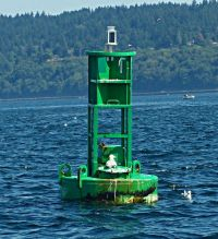 Meadow Point Buoy LED ATON Puget Sound Seattle