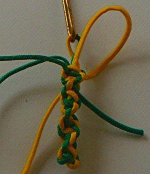 Spiral Portuguese Sennit, key fob