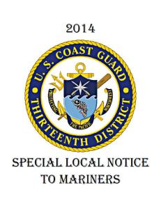 Coast Guard District 13, Special Notice To Mariners
