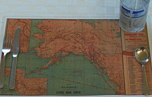 1898 Alaska Klondike Gold Rush Map Place-Mat