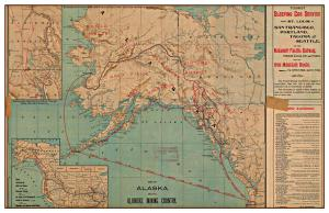 Alaska Klondike Gold Rush Map 1898