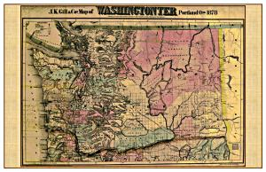 Washington State Map - 1878