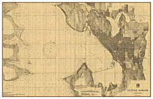 Seattle Harbor Chart - 1901