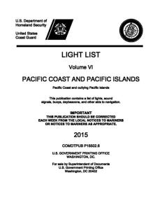 2015 Light List Cover