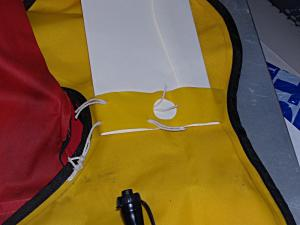 Mounting cords for ACR Firefly PRO Waterbug to a Mustang Inflatable Lifejacket