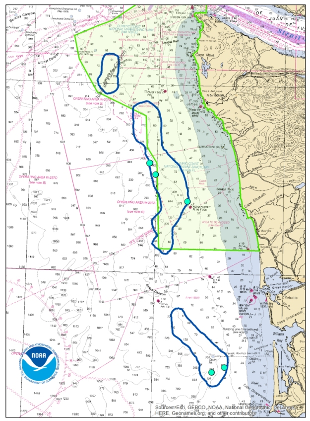 Map of IOCM projects Olympic Coast NMS