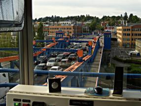 Traffic clearing on the Fremont Bridge after an opening