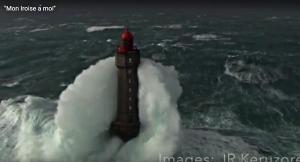 French Lighthouse in a Storm